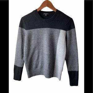 Theory colour block 100% wool sweater medium